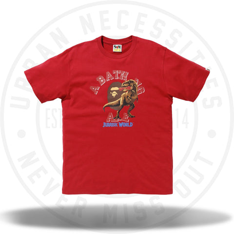 Bape x Jurassic World Raptor College Tee Red-Urban Necessities
