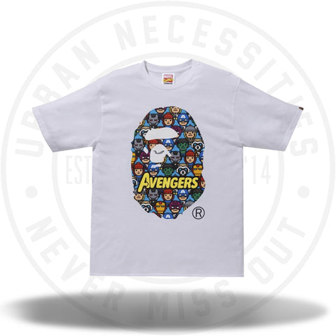 7619ec93 BAPE x Marvel Avengers Ape Head Tee White-Urban Necessities