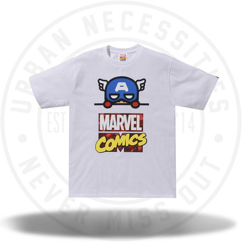BAPE x Marvel Comics Captain America Tee White-Urban Necessities