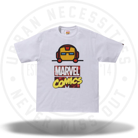 BAPE x Marvel Comics Iron Man Tee White-Urban Necessities