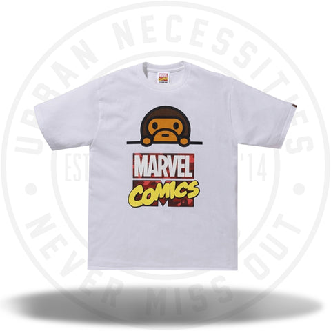 BAPE x Marvel Comics Milo Tee White-Urban Necessities