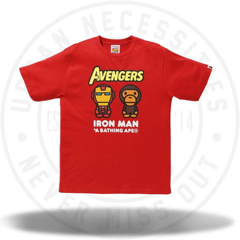 BAPE x Marvel Milo Iron Man Tee Red-Urban Necessities