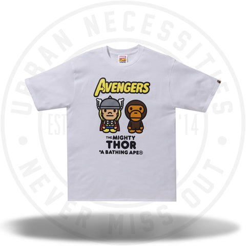 BAPE x Marvel Milo Mighty Thor Tee White-Urban Necessities