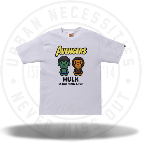BAPE x Marvel Milo The Hulk Tee White-Urban Necessities