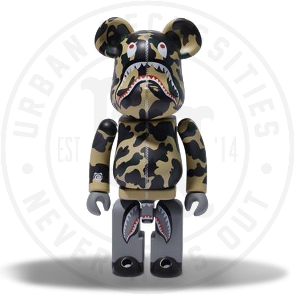 BAPE x Medicom 1st Camo Shark Superalloy Chogokin 200% Bearbrick Yellow-Urban Necessities