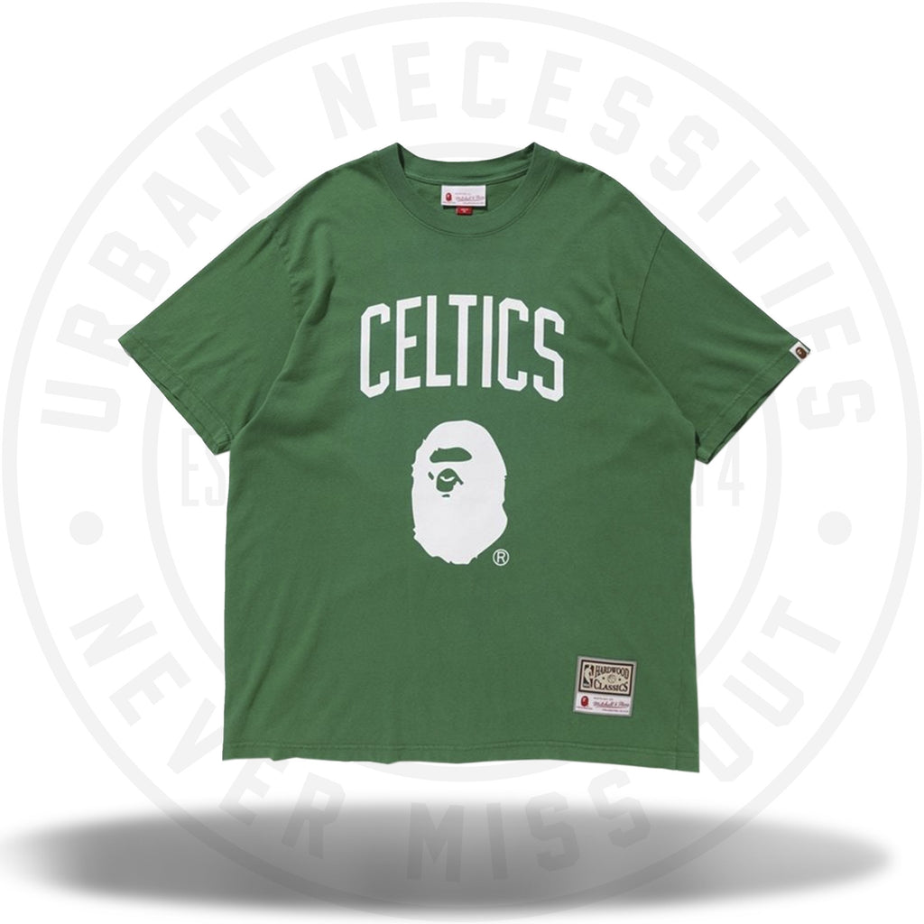 Bape x Mitchell and Ness Celtics Tee Green-Urban Necessities