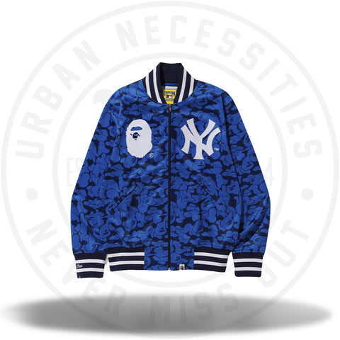 BAPE x Mitchell and Ness Yankees Jacket Blue-Urban Necessities
