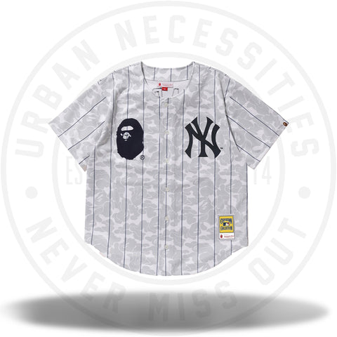 BAPE x Mitchell and Ness Yankees Jersey White-Urban Necessities