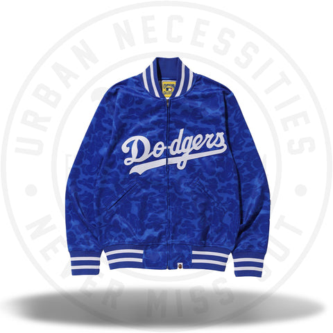 BAPE x Mitchell & Ness Dodgers Jacket Blue-Urban Necessities