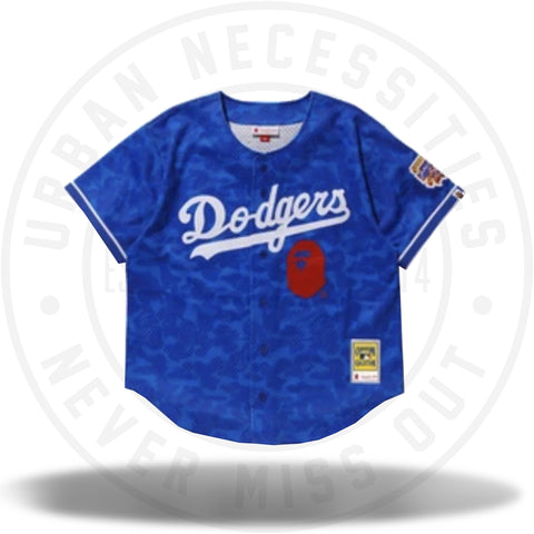 BAPE x Mitchell & Ness Dodgers Jersey Blue-Urban Necessities