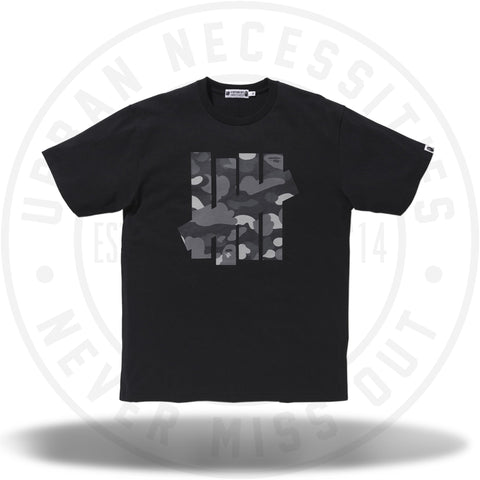 Bape x Undefeated 5 Strikes Tee Black-Urban Necessities