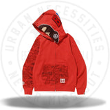Bape XXV Cities Camo 2nd Ape Full Zip Hoodie Red-Urban Necessities
