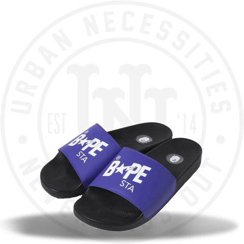 Bapesta Slides Purple White-Urban Necessities