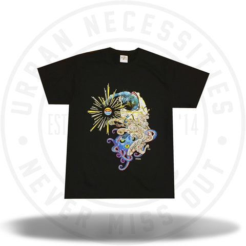 BBC Takashi Murakami Something in the Water Black Tee-Urban Necessities