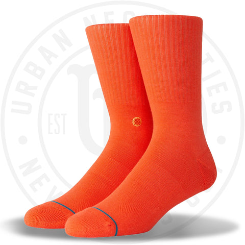 Classic Crew Socks Icon - Orange-Urban Necessities