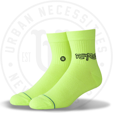 Classic Stance Men's A$Ap Ferg QTR Socks Neon Green-Urban Necessities