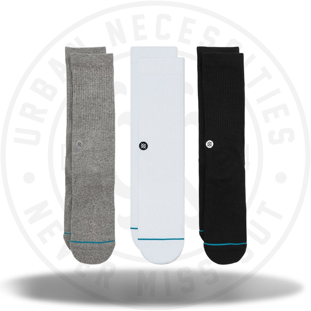 Classic Stance Men's Icon 3 Pack Socks Multi-Urban Necessities