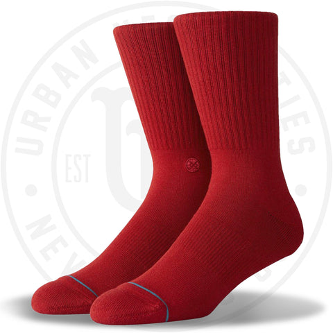 Classic Stance Men's Icon Dahlia Red Socks-Urban Necessities