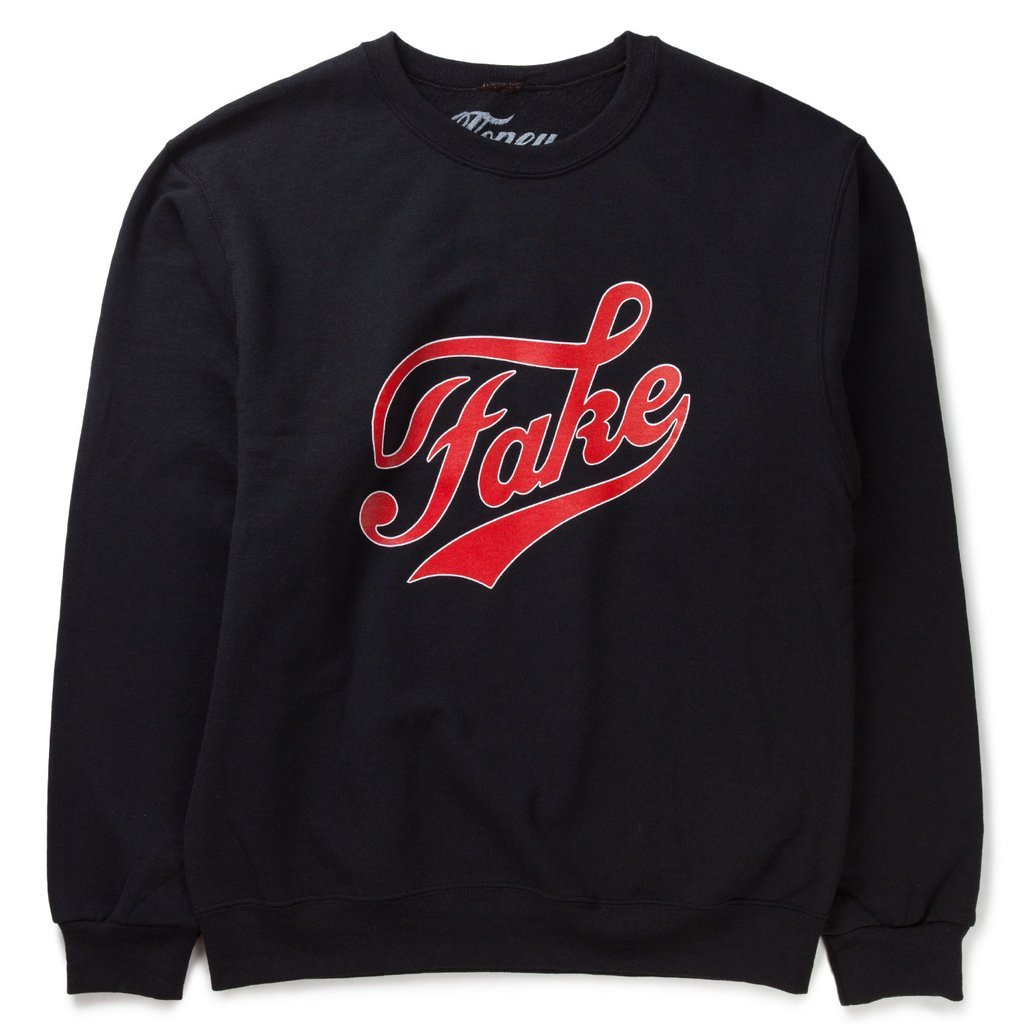 Cloney FAKE / FAME Sweatshirt in Black-Urban Necessities