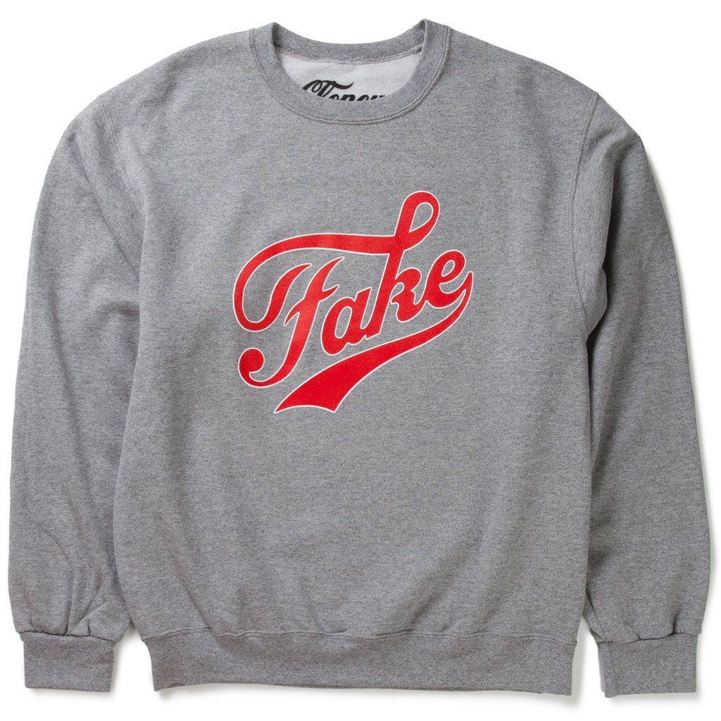 Cloney FAKE / FAME Sweatshirt in Gray-Urban Necessities