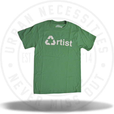 Cloney RECYCLED ARTIST T-Shirt in Green-Urban Necessities
