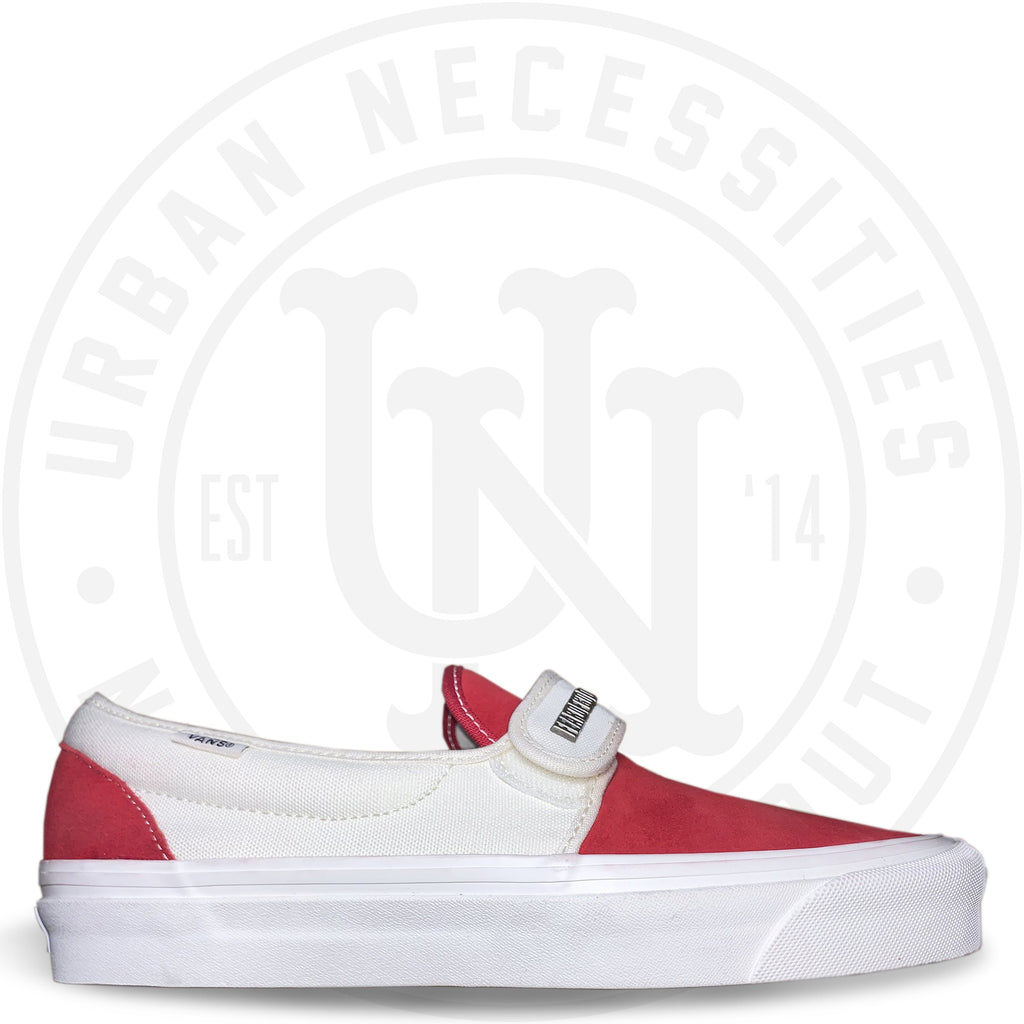 Fear of God x Slip-On 47 V DX 'Red/White/Suede' - SAMPLE-Urban Necessities