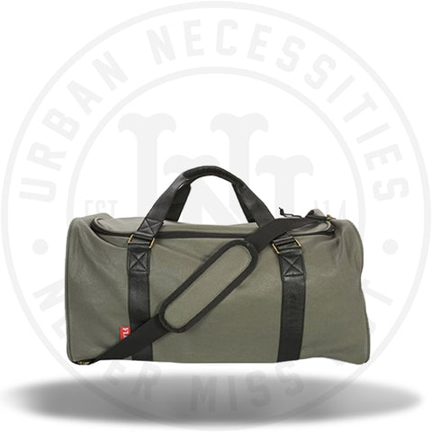 FLUD x Mayor Sneaker Duffle Bag - Waxed Army SB008-Urban Necessities