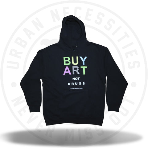 Hebru Brantley Buy Art Not Drugs Hoodie-Urban Necessities