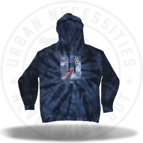 Hebru Brantley Heat of the Bull Tie Dye Hoodie-Urban Necessities