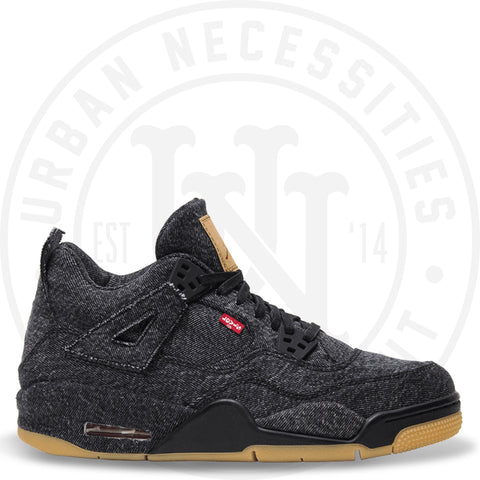 Jordan 4 Retro Levi's Black (Blank Tag)-Urban Necessities