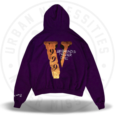 Juice Wrld x Vlone Legends Never Die Hoodie Purple-Urban Necessities