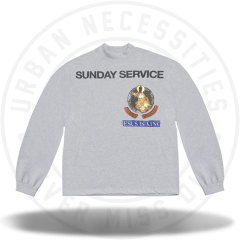 Kanye West Sunday Service New York (LA Apparel Promo) Long Sleeve Heather-Urban Necessities