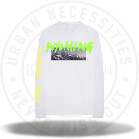 Kanye West Wyoming L/S Shirt - White-Urban Necessities