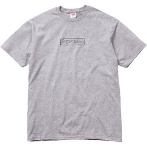 Kaws Supreme Box Logo Tee Grey-Urban Necessities