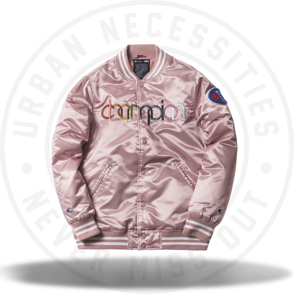 Kith Champion Baseball Jacket Pink-Urban Necessities
