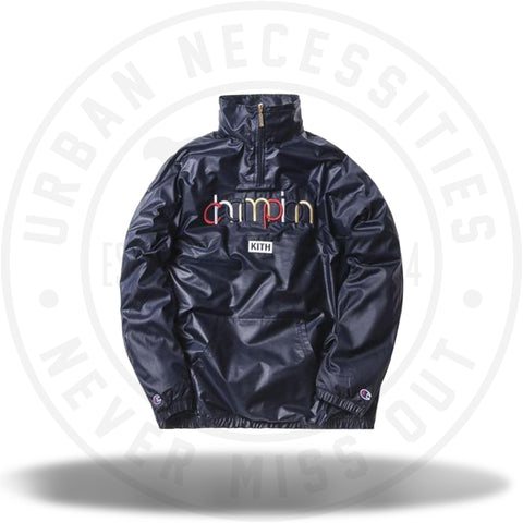 Kith Champion Quarter-Zip Navy-Urban Necessities