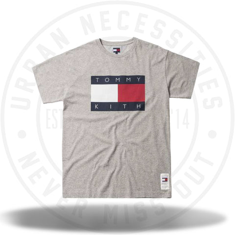Kith x Tommy Hilfiger Flag Tee Grey-Urban Necessities