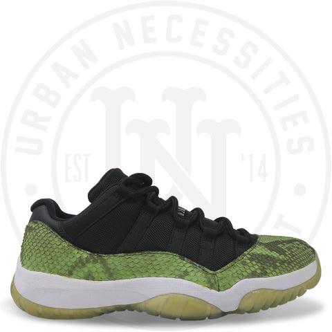 Kuhvit Custom Jordan 11 Retro Low Green Snakeskin-Urban Necessities