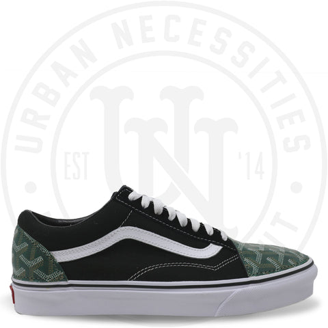 Kuhvit Custom Vans Old Skool With Green Goyard-Urban Necessities