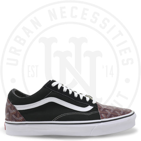 Kuhvit Custom Vans Old Skool With Maroon Goyard-Urban Necessities