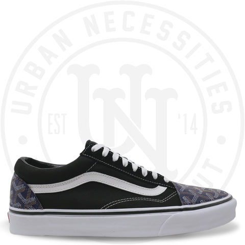 b46475d3f8f Kuhvit Custom Vans Old Skool With Navy Goyard-Urban Necessities