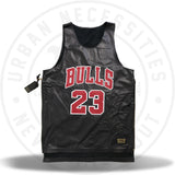 Kuhvit Customs Chicago Bulls 'Jordan' Leather Double Lay Custom Jersey-Urban Necessities