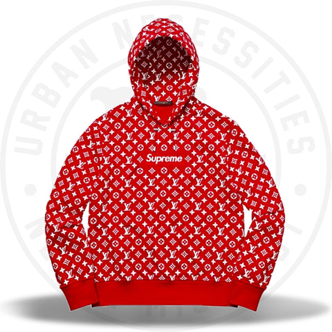 Louis Vuitton Supreme Box Logo Hooded Sweatshirt-Urban Necessities
