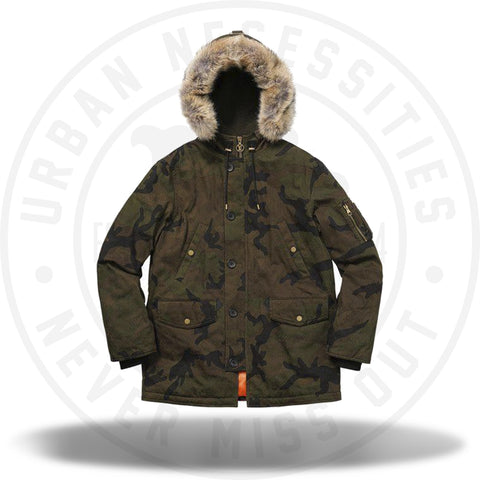 Louis Vuitton Supreme Jacquard Denim N-3B Parka Camo-Urban Necessities