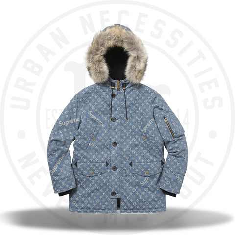 Louis Vuitton Supreme Jacquard Denim N-3B Parka-Urban Necessities