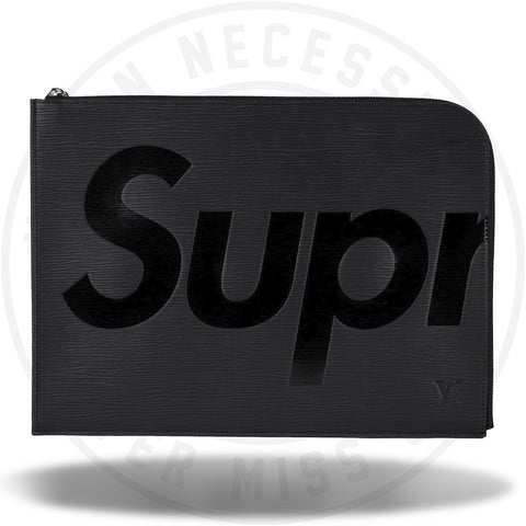 Louis Vuitton x Supreme Pochette Jour Epi GM Black-Urban Necessities