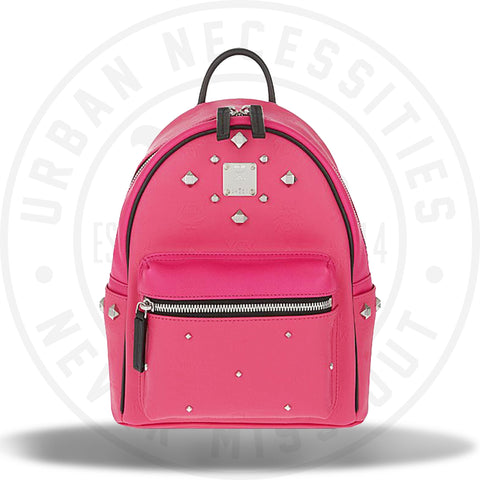 MCM Stark Odeon Small Backpack - Beet Root Pink Visetos-Urban Necessities aad7a1bd9