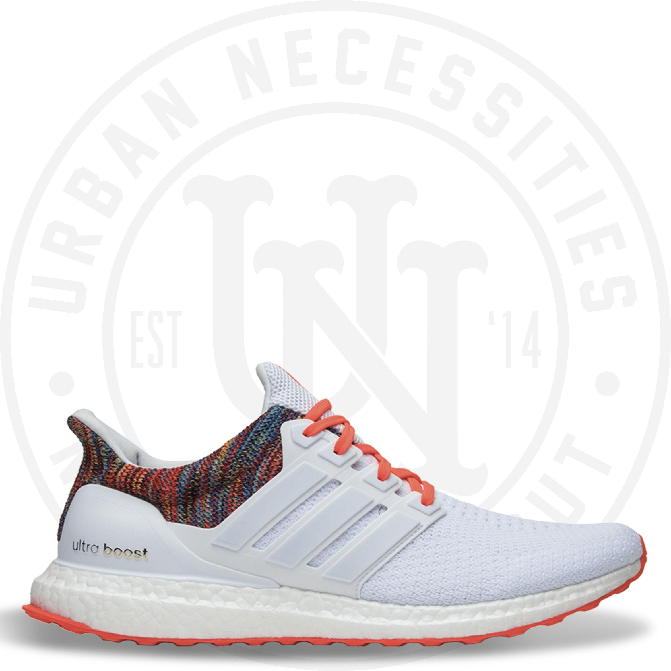 Mi Adidas Ultra Boost  Rainbow  White – Urban Necessities c91315605819