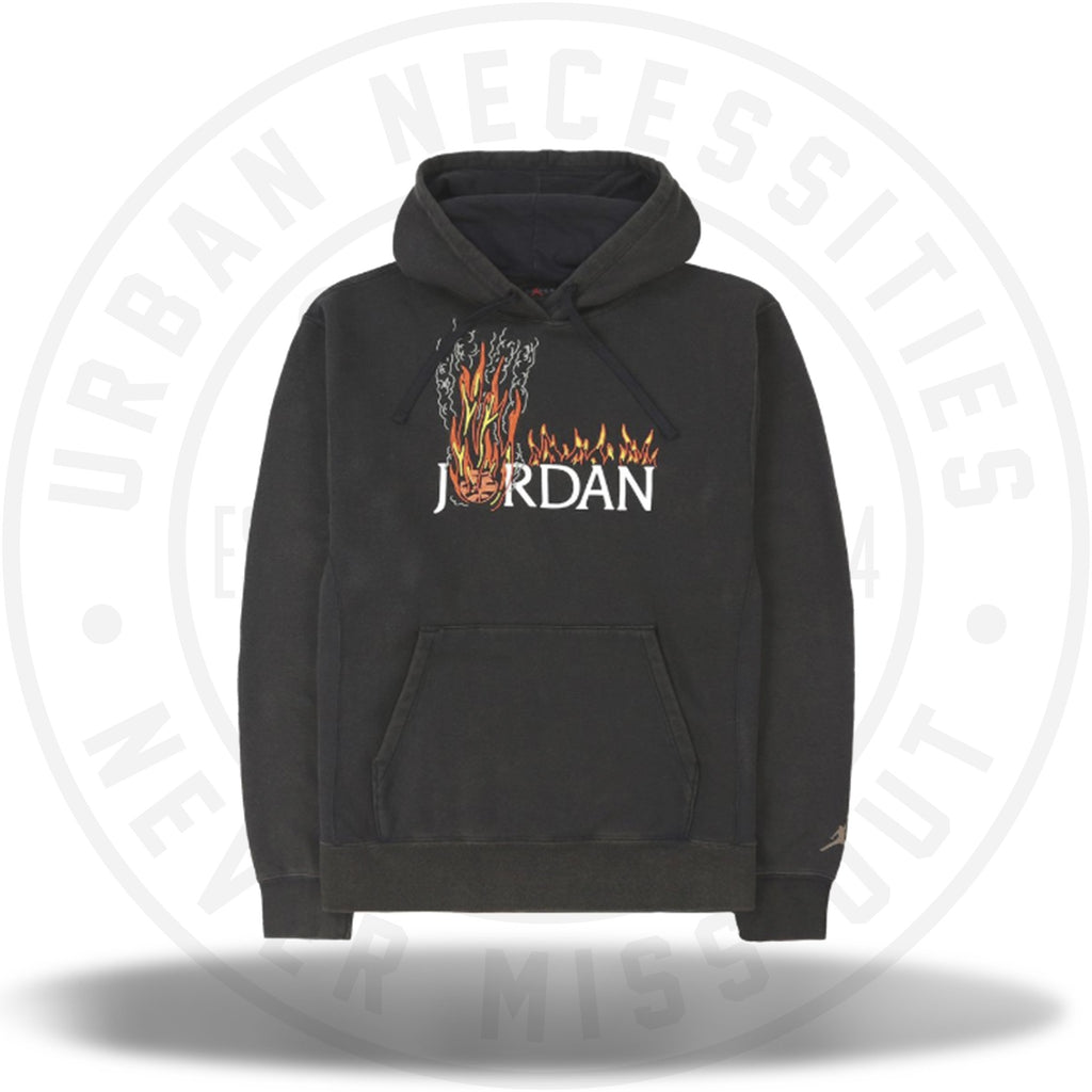 MJ Travis Scott Fleece Hoodie Black-Urban Necessities