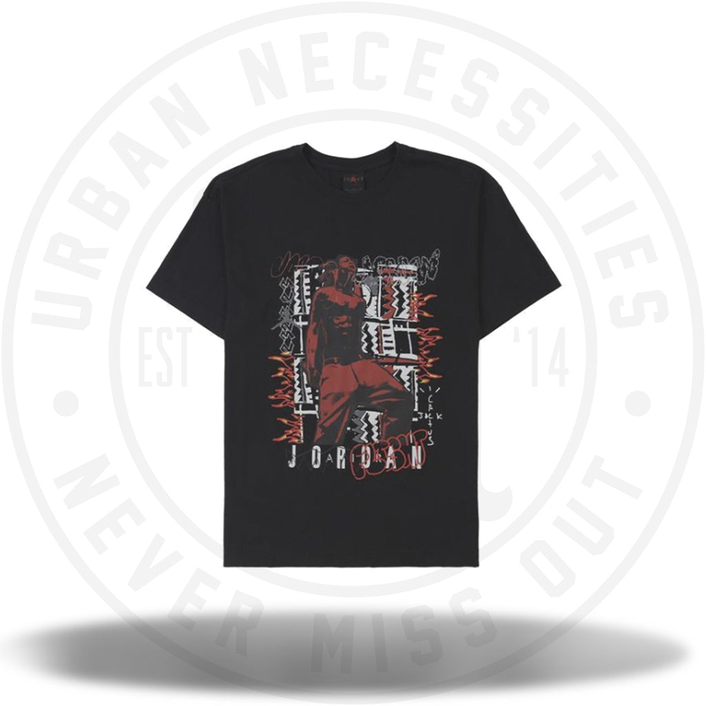 MJ Travis Scott Tee 2 Black-Urban Necessities